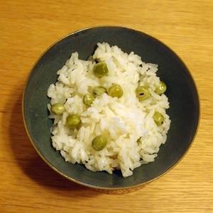 冷凍えんどう豆で☆美味しい豆ご飯