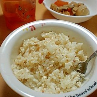 【離乳食後期】すぐに作れてすぐ食べられる!豆腐ご飯