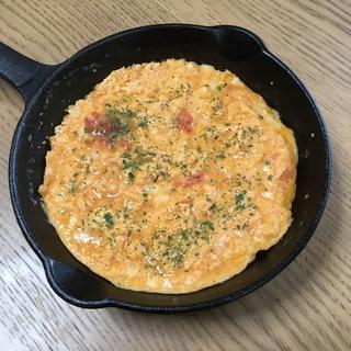 明太チーズのスキレットで焼くオムレツ♡