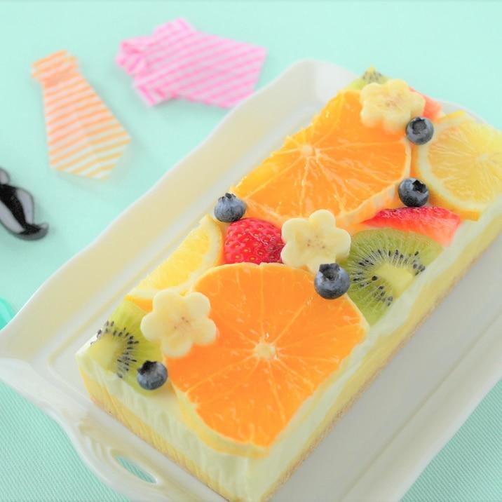 マンゴーのマーブルレアチーズケーキ