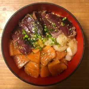 甘めのたれがうまい!海鮮丼