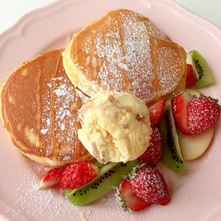 笑顔こぼれちゃう♪ふんわり〜カフェ風パンケーキ♡