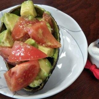簡単オシャレ☆アボカドとトマトのさっぱりサラダ
