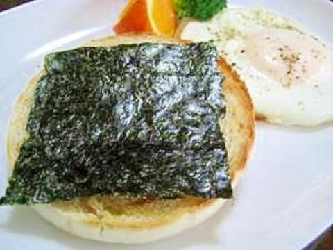 イングリッシュマフィンde海苔トースト
