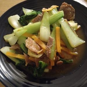 ご飯に合う☆豚肉とチンゲン菜のオイスターソース炒め