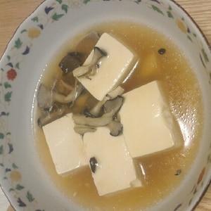 豆腐のキノコあんかけ