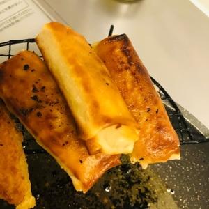 長いもとチーズの春巻き