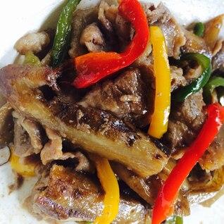 野菜を食す‼︎ごぼうと豚肉のオイスター炒め