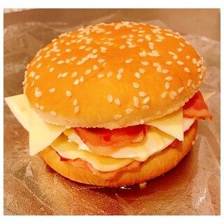 ベーコンエッグチーズバーガー!