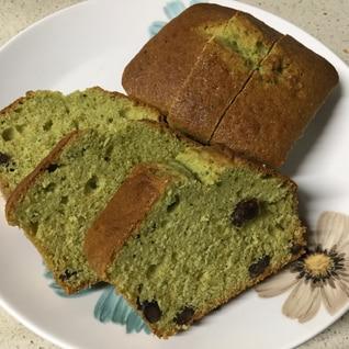 HMで作る抹茶と甘納豆のパウンドケーキ