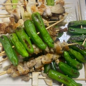 オーブンで一気に焼こう!焼き鳥3種
