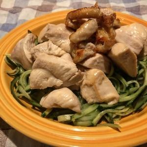 オーブンで簡単☆塩蒸し鶏のサッパリきゅうりダレ