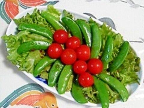 リーフレタスとスナップえんどうのサラダ