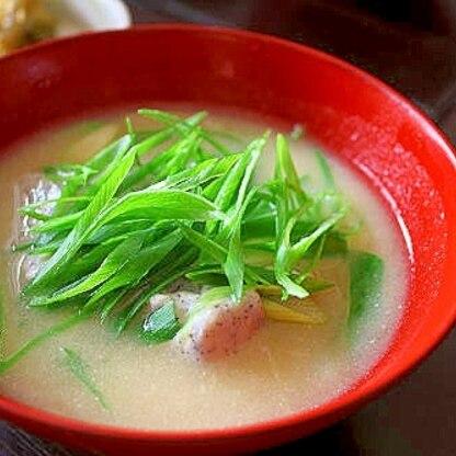 ごま豆腐の味噌汁