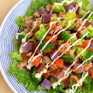 超〜簡単!3ステップで楽チン野菜丸ごと温サラダ♪