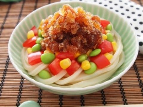 夏野菜の氷うどん