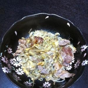 豚肉ともやしの味噌炒め