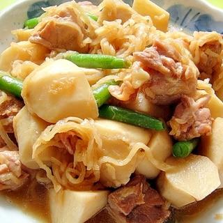 里芋と切り干し大根鶏肉の煮物