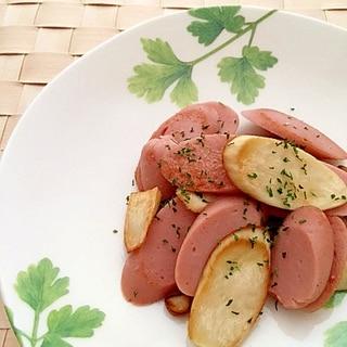 エリンギと魚肉ソーセージの炒めもの✿