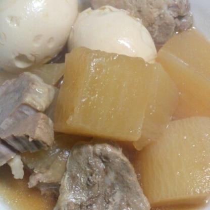圧力鍋で☆とろける豚肉と大根の煮物