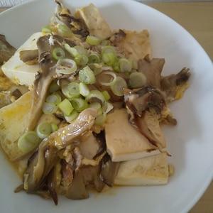 舞茸と豚肉の卵とじ