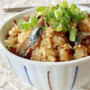 ★さんまの缶詰と生姜の炊き込みご飯★