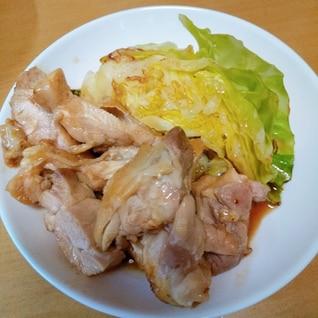 鶏ももと春キャベツ炒め