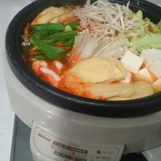 豆板醤で♪キムチ風ピリ辛鍋