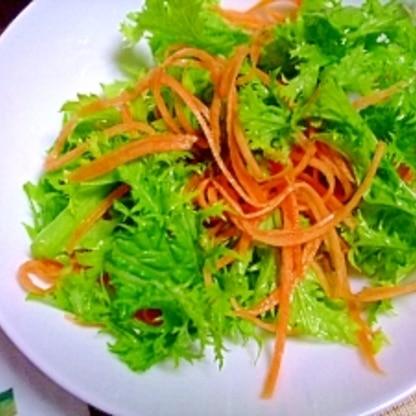 簡単♪わさび菜サラダ