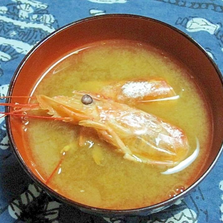 えびの頭の味噌汁