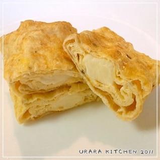 一人分のカマンベールチーズ入り卵焼き☆お弁当用☆