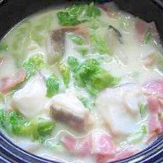 レンジで簡単☆たらと白菜のクリーム煮