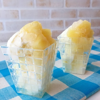フルーツ缶で簡単スイーツ♪パインシャーベットアイス