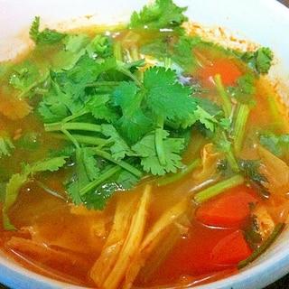 ヘルシー!タイスキ風スープ