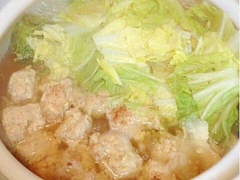 【糖質制限】節約★材料2つで鶏団子の簡単お鍋♪
