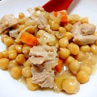 ひよこ豆の和風の煮物