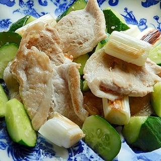 5分!?男の手料理❤ネギ豚ソース炒め♪(塩麹)