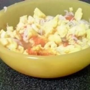 離乳食☆トマト入りスクランブルエッグ