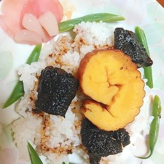 鰻の佃煮で簡単彩り飯