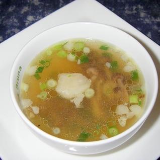 牛脂が決め手♪ 干ししめじのほっこり濃厚スープ♪