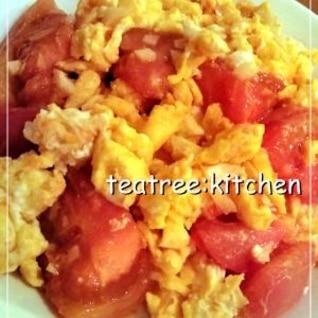 簡単!卵とトマトのふんわり炒め