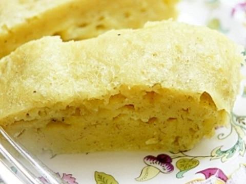 レンジとHMで簡単美味しい!!バナナ蒸しケーキ
