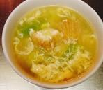 厚揚げとキャベツの中華スープ