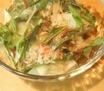 水菜とだいこんの和風サラダ