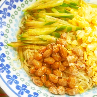 納豆冷麺!たんぱく質たっぷり♪簡単♪