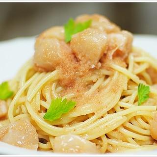 辛子明太子と帆立の冷製スパゲッティーニ