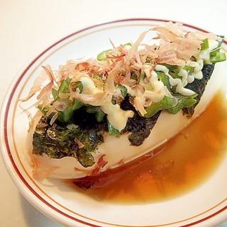 味ぽん/マヨで 韓国海苔とオクラとおかかの冷奴