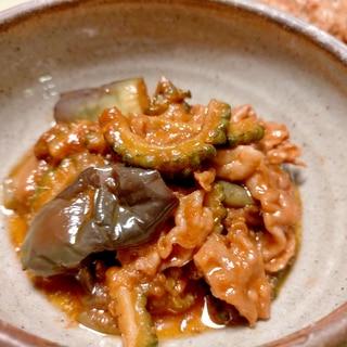 ■10分で..豚しゃぶ肉でピリ辛茄子味噌