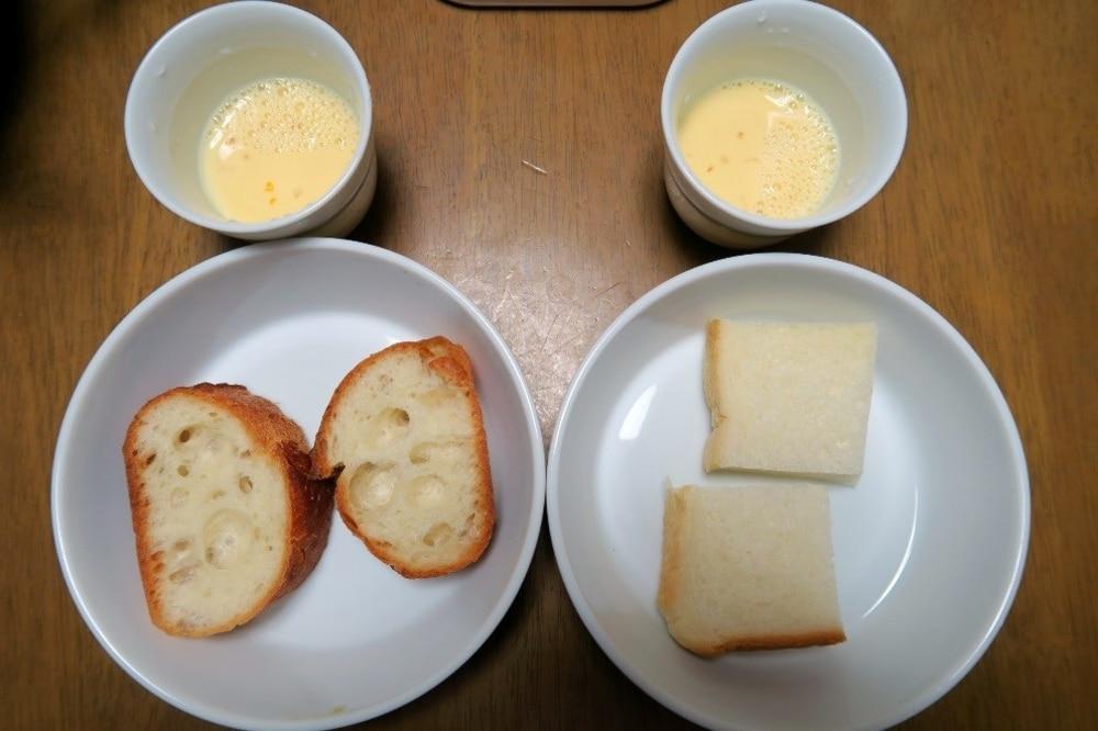 食パンVSフランスパン!卵液の浸透時間が短いのはどっち?