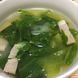 残り物で中華スープ